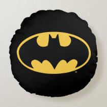 Batman Symbol | Oval Logo Round Pillow