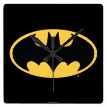 Batman Symbol | Oval Logo Square Wall Clock