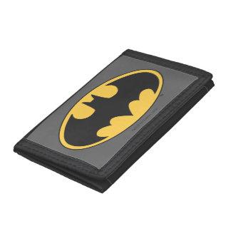 Batman Symbol   Oval Logo Trifold Wallets