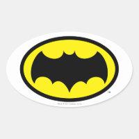 Batman Symbol Oval Sticker