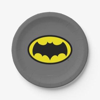 Batman Symbol Paper Plate