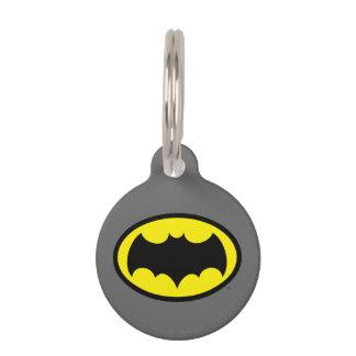 Batman Symbol Pet Name Tag