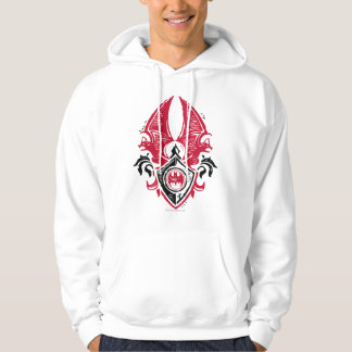 Batman Symbol | Red Black Bat Stamp Crest Logo Hoodie