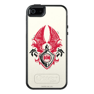 Batman Symbol | Red Black Bat Stamp Crest Logo OtterBox iPhone 5/5s/SE Case