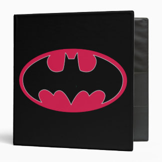 Batman Symbol | Red Black Logo 3 Ring Binder