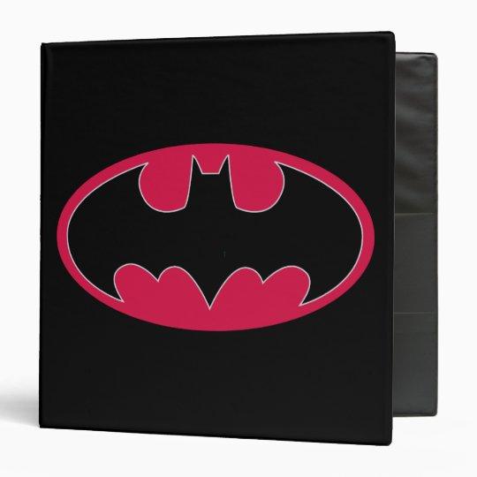Batman Symbol   Red Black Logo 3 Ring Binder