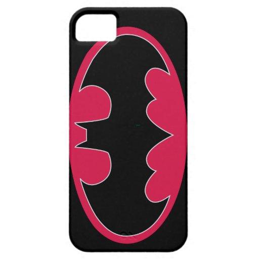 Batman Symbol   Red Black Logo iPhone SE/5/5s Case