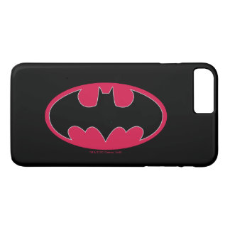Batman Symbol | Red Black Logo iPhone 8 Plus/7 Plus Case
