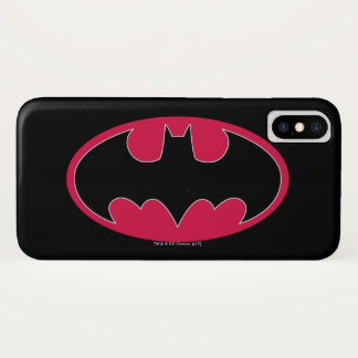 Batman Symbol | Red Black Logo iPhone X Case