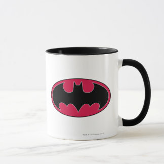 Batman Symbol | Red Black Logo Mug