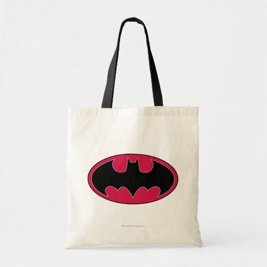 Batman Symbol   Red Black Logo Tote Bag