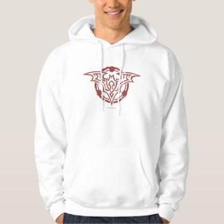 Batman Symbol | Red Outline Urban Logo Hooded Sweatshirt