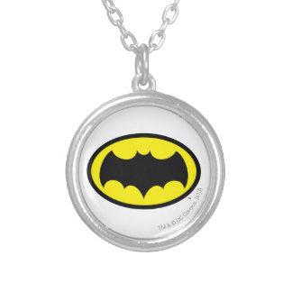 Batman Symbol Round Pendant Necklace