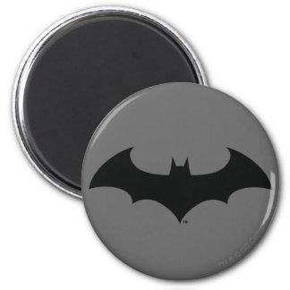 Batman Symbol | Simple Bat Silhouette Logo 2 Inch Round Magnet