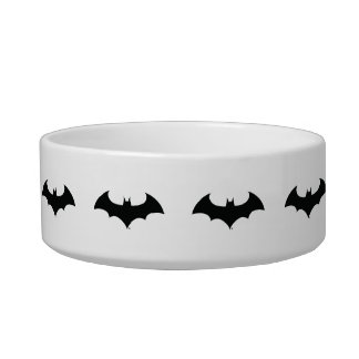 batman symbol simple bat silhouette logo bowl - Cat Bowls