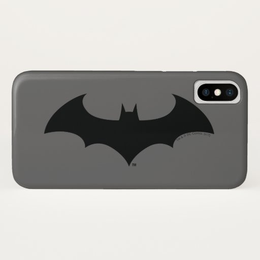 Batman Symbol | Simple Bat Silhouette Logo iPhone X Case