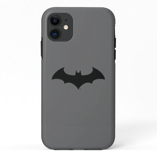 Batman Symbol | Simple Bat Silhouette Logo iPhone 11 Case