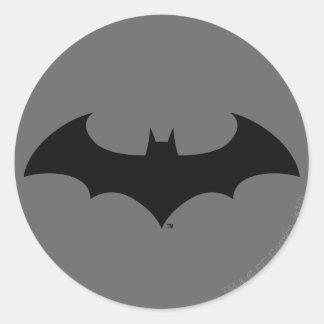 Batman Symbol   Simple Bat Silhouette Logo Classic Round Sticker
