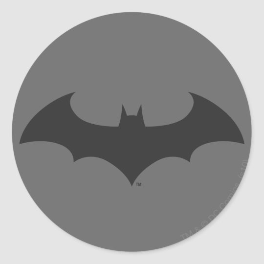Batman symbol simple bat silhouette logo classic round sticker
