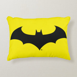 Batman Symbol | Simple Bat Silhouette Logo Decorative Pillow