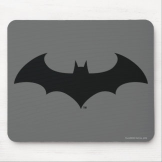 Batman Symbol | Simple Bat Silhouette Logo Mouse Pad