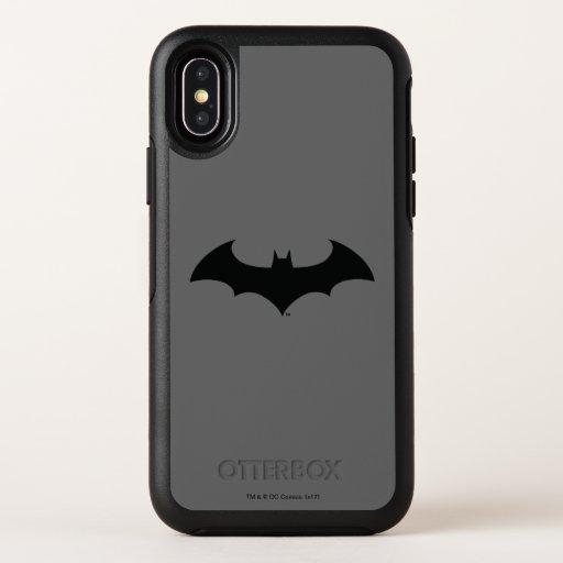 Batman Symbol | Simple Bat Silhouette Logo OtterBox Symmetry iPhone X Case