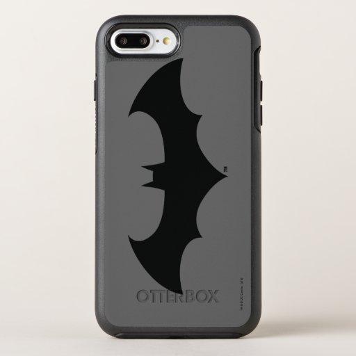 Batman Symbol | Simple Bat Silhouette Logo OtterBox Symmetry iPhone 8 Plus/7 Plus Case
