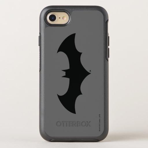 Batman Symbol | Simple Bat Silhouette Logo OtterBox Symmetry iPhone 8/7 Case