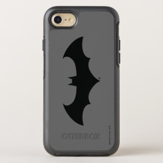 Batman Symbol | Simple Bat Silhouette Logo OtterBox Symmetry iPhone 8/7 Case