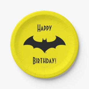 Batman Symbol | Simple Bat Silhouette Logo Paper Plate