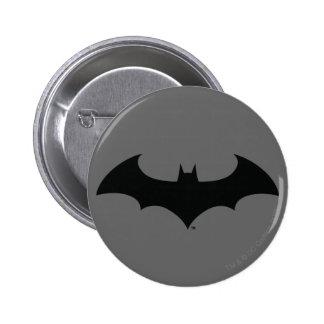 Batman Symbol | Simple Bat Silhouette Logo Pinback Button