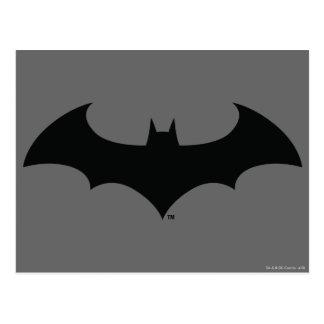 Batman Symbol | Simple Bat Silhouette Logo Postcard