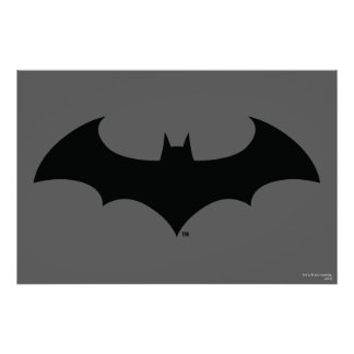 Batman Symbol | Simple Bat Silhouette Logo Poster