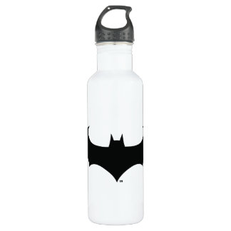 Batman Symbol | Simple Bat Silhouette Logo Stainless Steel Water Bottle