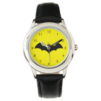 Batman Symbol   Simple Bat Silhouette Logo Wristwatch