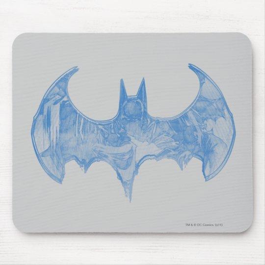 Batman Symbol | Sketchbook Light Blue Logo Mouse Pad