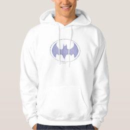 Batman Symbol   Sketchbook Purple Logo Hoodie