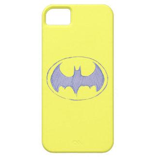 Batman Symbol | Sketchbook Purple Logo iPhone SE/5/5s Case