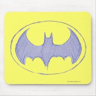 Batman Symbol | Sketchbook Purple Logo Mouse Pad