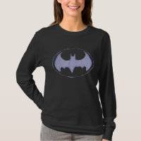 Batman Symbol | Sketchbook Purple Logo T-Shirt