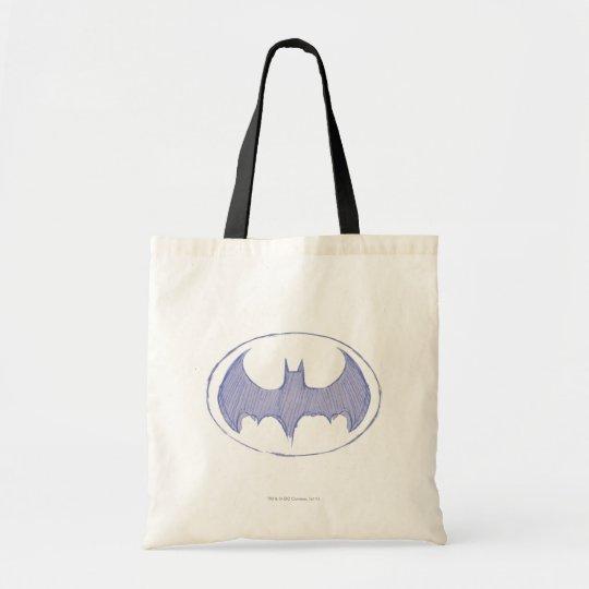Batman Symbol | Sketchbook Purple Logo Tote Bag
