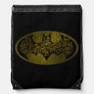 Batman Symbol | Skulls in Bat Logo Drawstring Bag