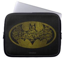 Batman Symbol | Skulls in Bat Logo Laptop Sleeve