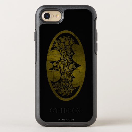 Batman Symbol | Skulls in Bat Logo OtterBox Symmetry iPhone SE/8/7 Case