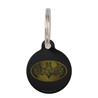 Batman Symbol   Skulls in Bat Logo Pet ID Tag