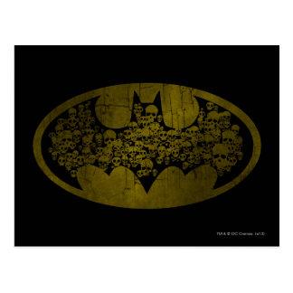 Batman Symbol   Skulls in Bat Logo Postcard