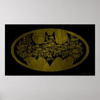 Batman Symbol | Skulls in Bat Logo Poster