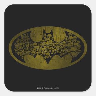 Batman Symbol | Skulls in Bat Logo Square Sticker