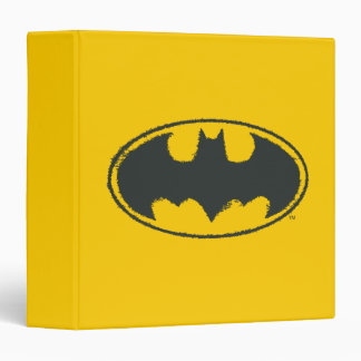 Batman Symbol | Spray Black White Logo 3 Ring Binder
