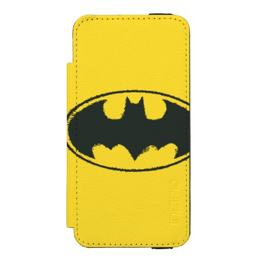 Batman Symbol | Spray Black White Logo iPhone SE/5/5s Wallet Case